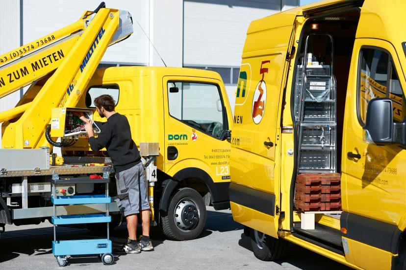 Technischer Service für Arbeitsbühnen, Reperaturen & Ersatzteile - von Dorn Lift