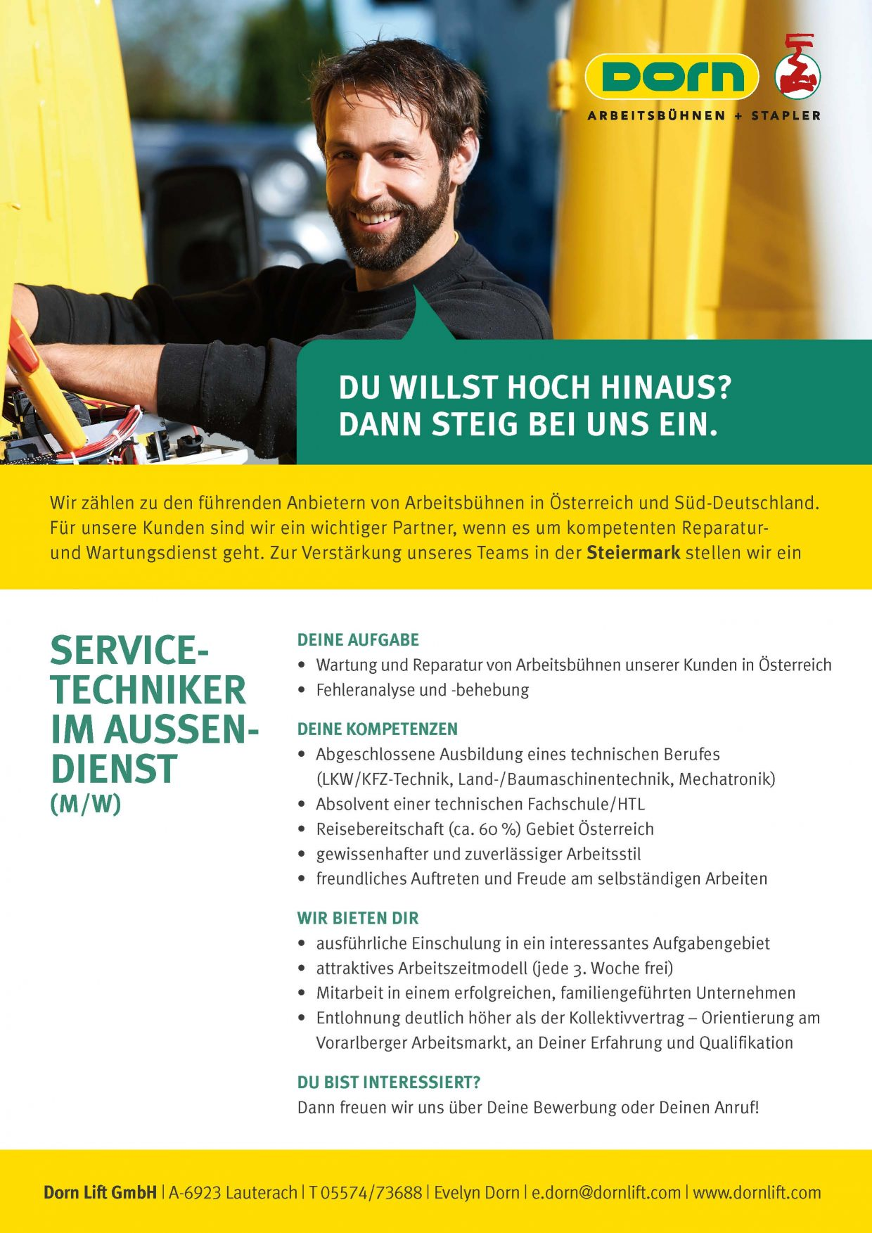 Inserat Servicetechniker